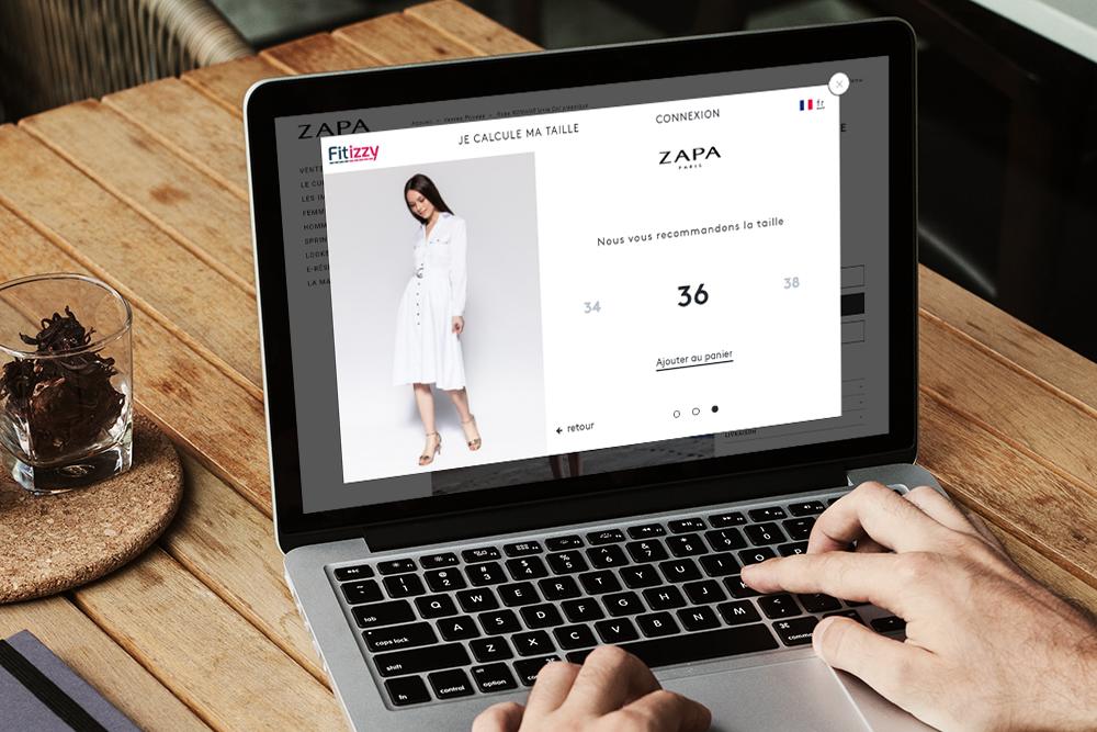 trouver sa taille de vêtement en ligne avec Fitizzy